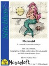 mini korssting - broderi pakke - mermaid thumbnail