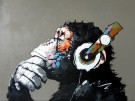 Paint by numbers - Monkey with Headphones 40x50 cm thumbnail