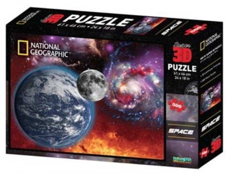 Puslespill 3D - National Geographic Space 1 - 500