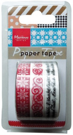 Marianne Design – Paper tape – Christmas red