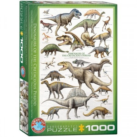 Puslespill - Dinosaurs of the Cretaceous period 1000