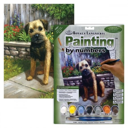 Paint By Numbers - Garden Puppy