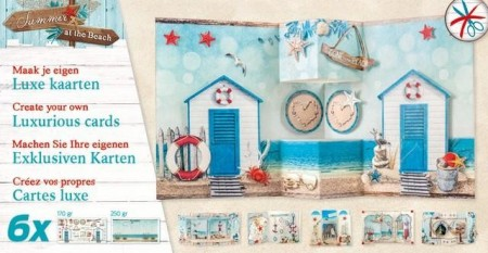 Studiolight Luxurious Cards x6 – Summer at the Beach