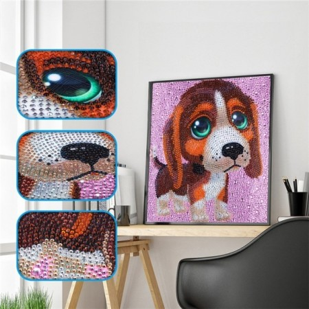 Diamond painting  - Big eyes dog 30x30 cm