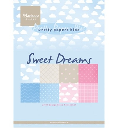 Marianne Design – Papirblokk A5 – Sweet Dreams