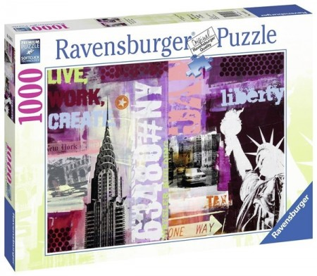Ravensburger puslespill -  New York Collage 1000
