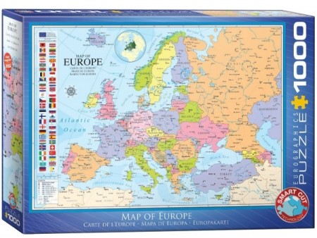 Puslespill - Map of Europe  1000