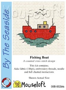 Mini korssting - Fishing boat