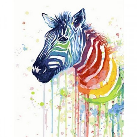 Paint by numbers - Watercolor zebra 40x50cm