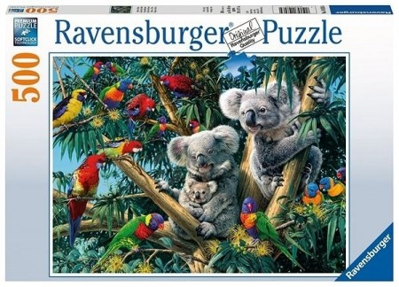 Ravensburger puslespill - Koalas in a tree 500