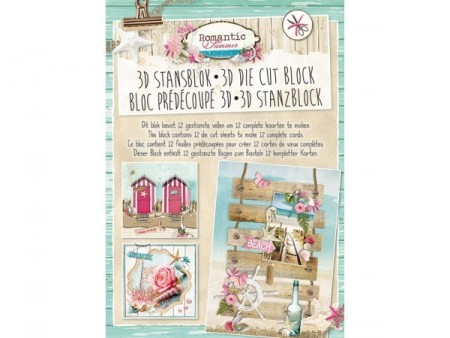 Studiolight 3D Die Cut Block – Romantic Summer
