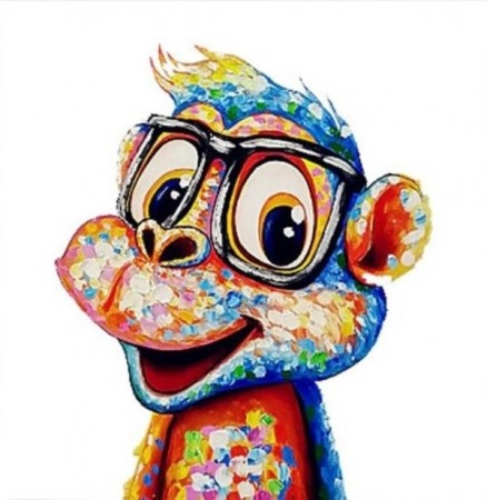 Diamond painting  - Cute Monkey 30x30cm