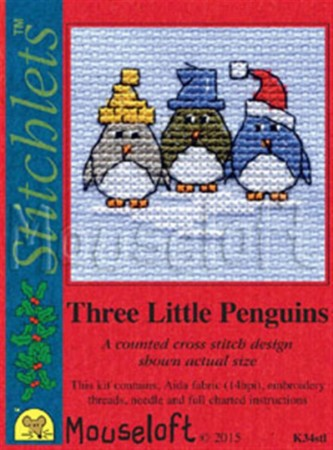 Mini korssting - Three little Penguins