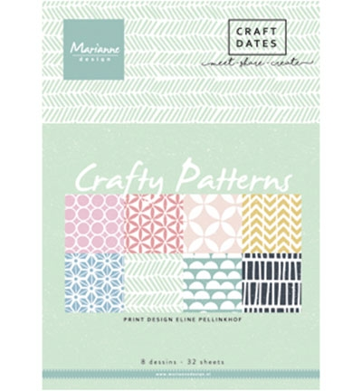 Marianne Design – Papirblokk A5 – Crafty Patterns