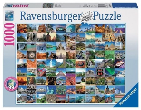 Ravensburger puslespill -  99 places 1000