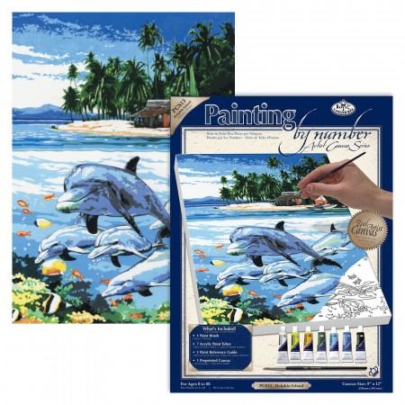 Paint By Numbers - Dolphin Island