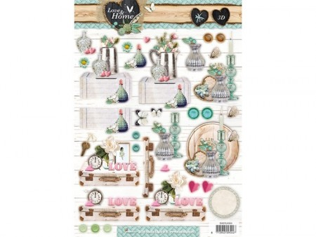 Studiolight 3D-ark utstanset – Love & Home 504