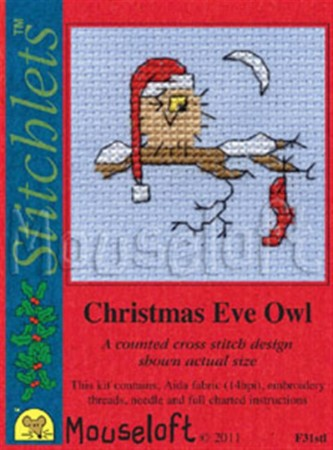 Mini korssting - Christmas Eve Owl