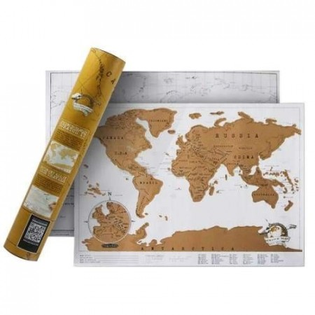 Deluxe reise scratch map - Lys 42x30cm
