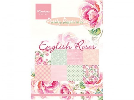 Marianne Design Papirblokk A5 – English Roses