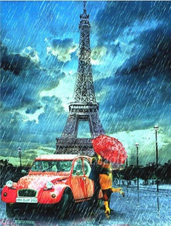 Diamond painting  - Paris 40x50 cm