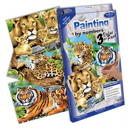 Paint By Numbers - Jungle Cats 3 i 1