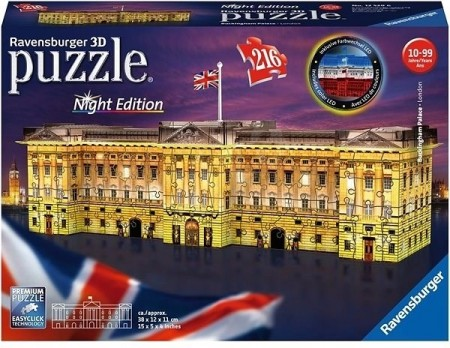 Ravensburger 3D puslespill - Buckingham palace med LED lys