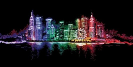 Korssting pakke - Hong Kong nights 83x30cm