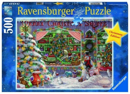 Ravensburger puslespill -  The Christmas Shop 500