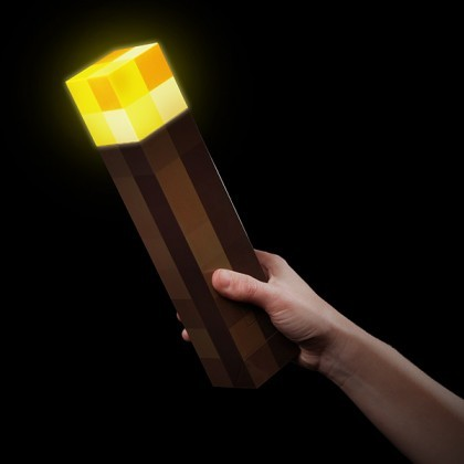 Minecraft torch vegg og bordlampe