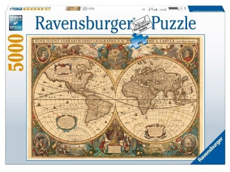 Ravensburger puslespill - Antique map 5000