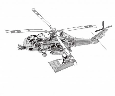 Puslespill 3D metall - Coast Guard Helicopter