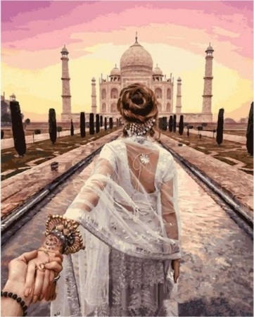 Paint by numbers - Taj Mahal 40x50cm