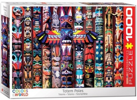 Puslespill - Totem poles 1000