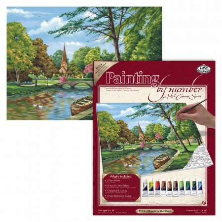 Paint By Numbers - Church by the River