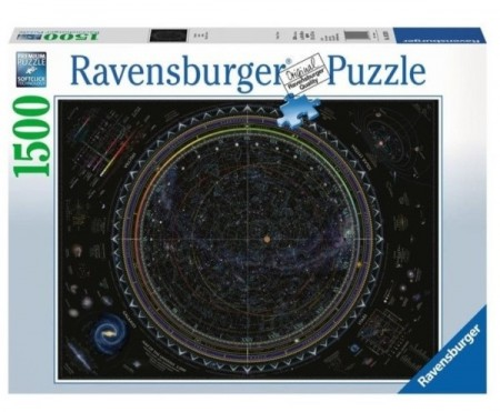 Ravensburger puslespill - Map of the universe 1500