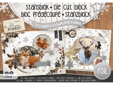 Studiolight 3D Die Cut Block A5 – Frozen Forest