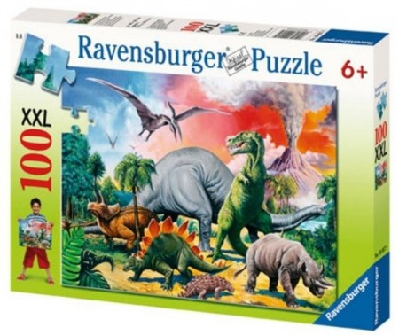 Ravensburger puslespill -  Among the Dinosaurs 100XXL