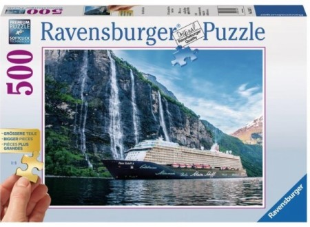 Ravensburger puslespill - Fjordcruise 500