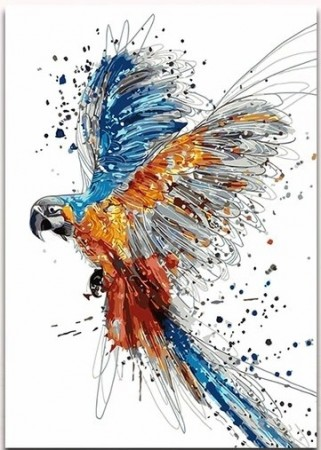 Paint by numbers - Watercolor Parrot 40x50cm