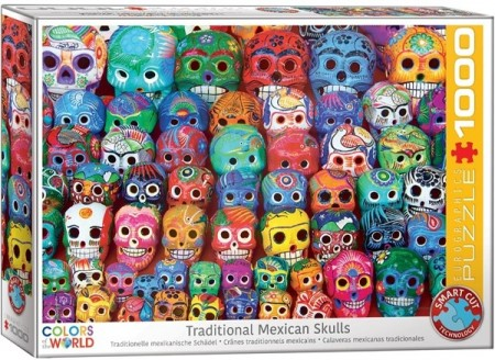 Puslespill - Traditional Mexican skulls 1000