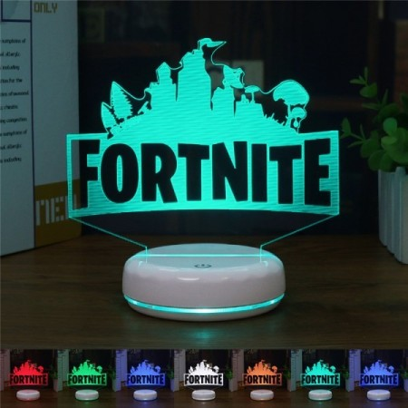 Fortnite bordlampe m/ lys i base og fjernkontroll