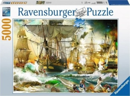 Ravensburger puslespill -  Ship battle 5000