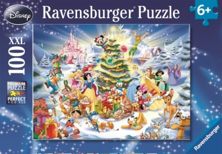 Ravensburger puslespill - Disney christmas magic 100XXL