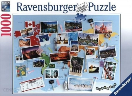 Ravensburger puslespill - Travel memories 1000