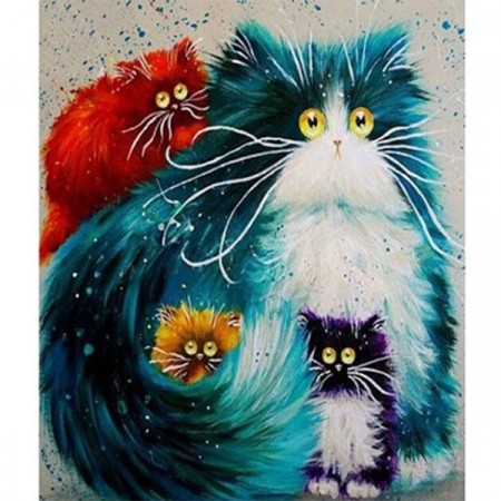 Paint by numbers - Funny cats 40x50cm