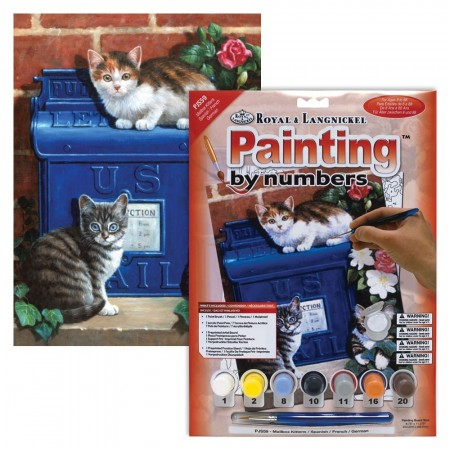 Paint By Numbers - Mailbox kittens