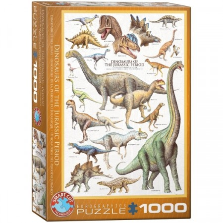 Puslespill - Dinosaurs of the Jurrasic period 1000