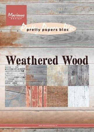 Marianne Design – Papirblokk A5 – Weathered Wood