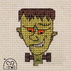Mini korssting -  Halloween Frankenstein